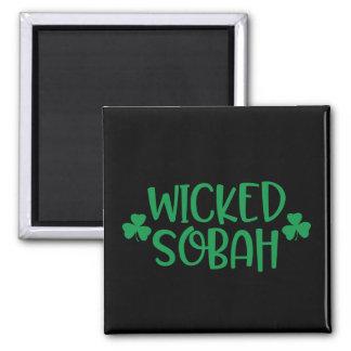 Wicked Sobah Magnet, Black Background Magnet