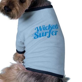 wicked surfer doggie shirt