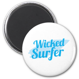 wicked surfer refrigerator magnets