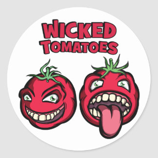 Wicked Tomatoes Classic Round Sticker