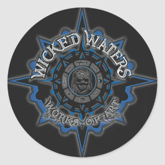 Wicked Waters Main Logo Classic Round Sticker