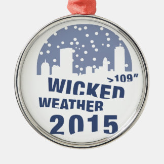 Wicked Weather (Boston) 2015 Silver-Colored Round Ornament