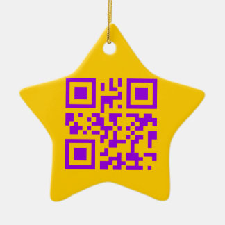 Wicked Witch Bar Code Ceramic Star Ornament