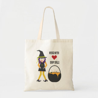 Wicked Witch Cartoon Tote Bag