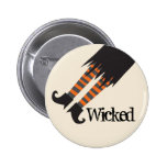 Wicked Witch Funny Halloween 2 Inch Round Button