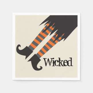 Wicked Witch Halloween Napkin