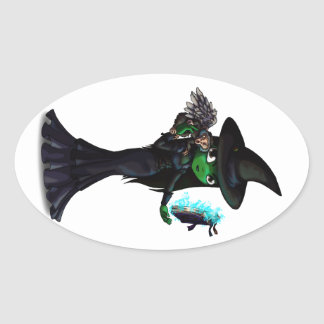 Wicked Witch Oval Sticker