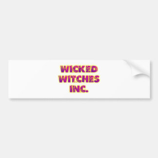 wicked witches inc autoaufkleber
