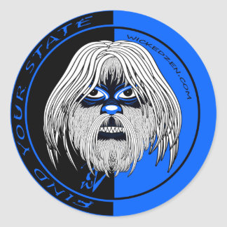 Wicked Yeti Classic Round Sticker