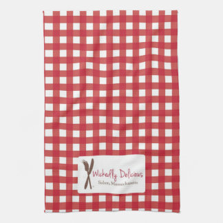 Wickedly Delicious Kitchen Towel Red Checked