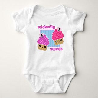 Wickedly Sweet Kawaii Cupcakes Baby Baby Bodysuit