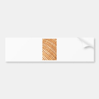 Wicker background bumper sticker