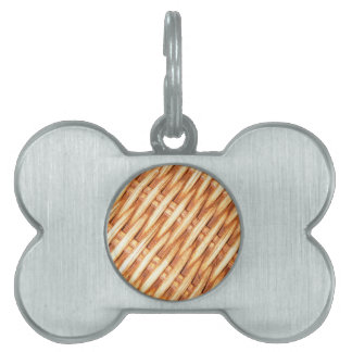 Wicker background pet name tag
