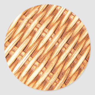 Wicker background round sticker