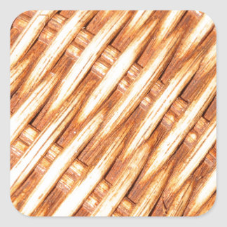 Wicker background square sticker