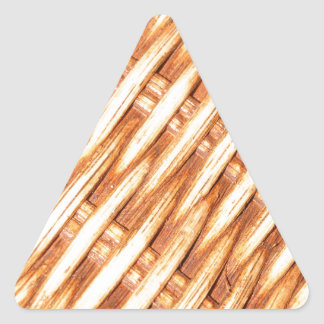 Wicker background triangle sticker
