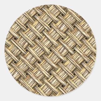 Wicker Basket Classic Round Sticker
