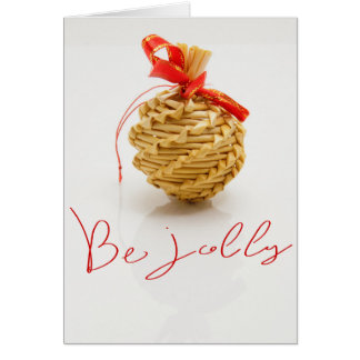Wicker Christmas Ornament Card
