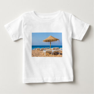 Wicker parasol with beach beds.JPG Baby T-Shirt