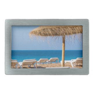 Wicker parasol with beach beds.JPG Belt Buckle