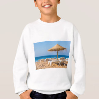 Wicker parasol with beach beds.JPG Sweatshirt