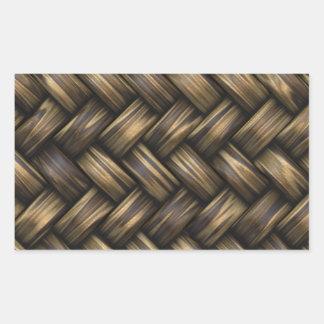 Wicker Rattan Weave Woven Pattern Basket Sticker