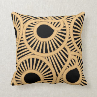 Wicker tear drops throw pillow