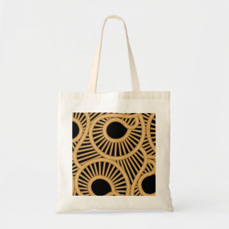 Wicker tear drops tote bag