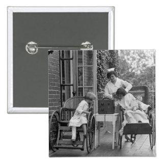 Wicker Wheelchairs 1920s Button