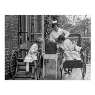 Wicker Wheelchairs, 1920s Postcard