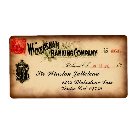 Wickersham Old Time Cool Shipping Label