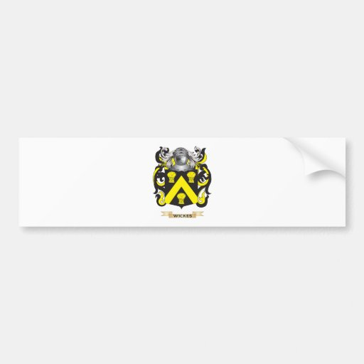 Wickes Family Crest (Coat of Arms) Bumper Stickers