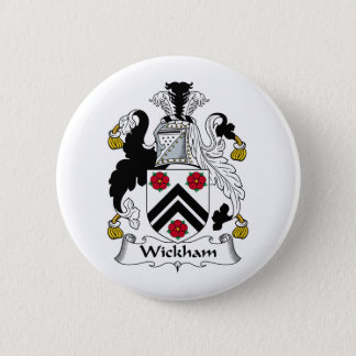 Wickham Family Crest 2 Inch Round Button