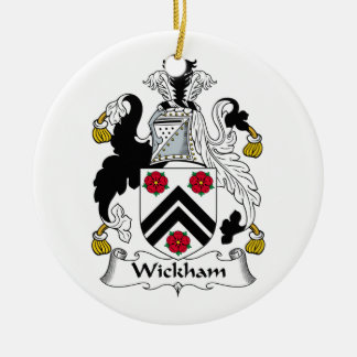 Wickham Family Crest Ceramic Ornament