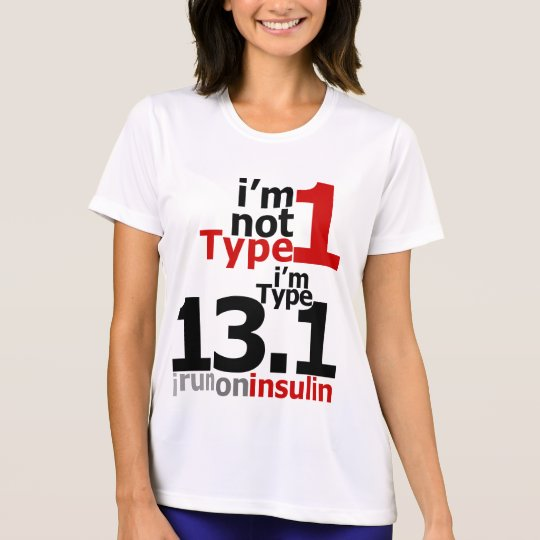 Wicking - Women's Type 1 Diabetic Half-Marathoners T-Shirt