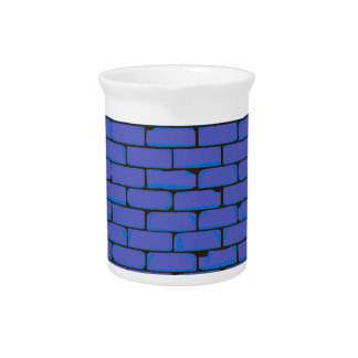 Wide Blue Wall Background Beverage Pitchers