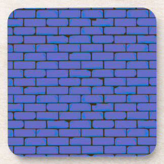 Wide Blue Wall Background Coaster