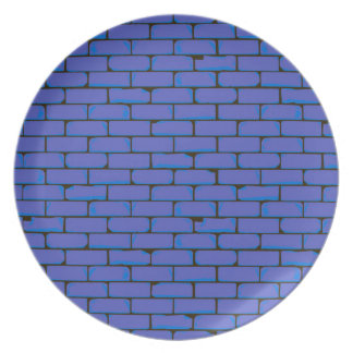 Wide Blue Wall Background Party Plates