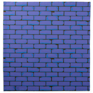 Wide Blue Wall Background Printed Napkins