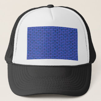 Wide Blue Wall Background Trucker Hat