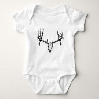 Wide buck skull baby bodysuit