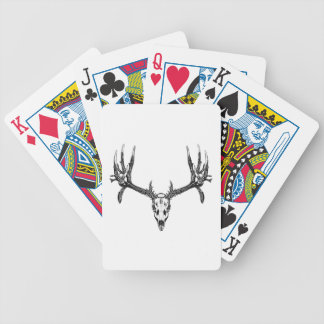 Wide buck skull bicycle playing cards