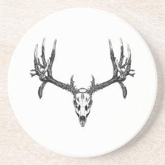 Wide buck skull coaster