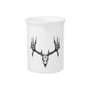 Wide buck skull drink pitcher