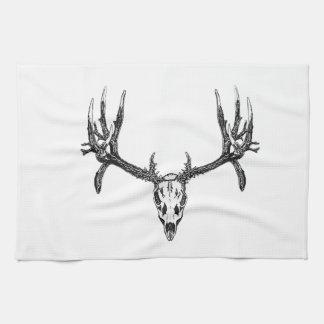 Wide buck skull hand towels