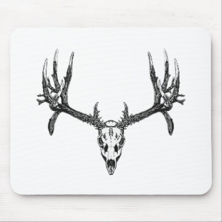 Wide buck skull mouse pad