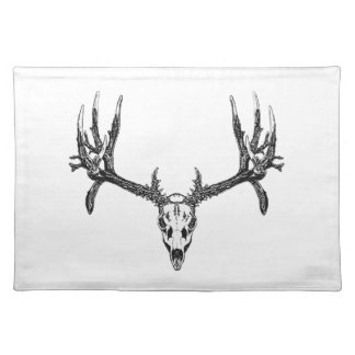 Wide buck skull placemats