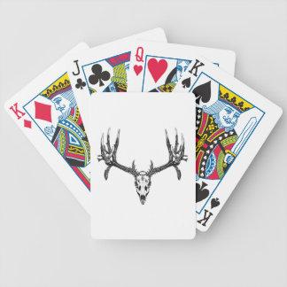 Wide buck skull poker deck