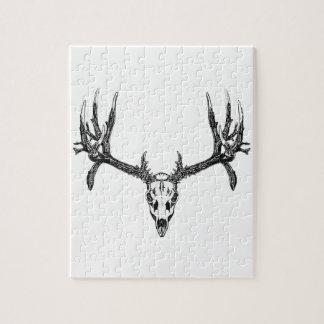 Wide buck skull puzzle