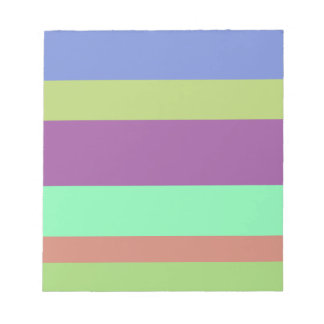 Wide Color Stripes Notepads